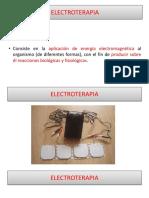 PRESENTACIÓN CLASE ELECTROTERAPIA VERSIÓN I DE 2019