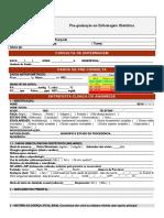 Ficha de consulta de Enfermagem