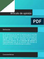 Como hacer un articulo de opinion.pptx
