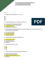 Examen diagnóstico de Mate 2