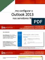 Tutorial Configuração Outlook 2013