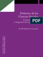 Ans Mendioroz - Didactica de las ciencias sociales