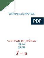 Clase 11  Contraste de Hipotesis