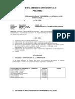 ACTA COMISIÓN DE EVALUACIÓN DE PROCESOS ACADÉMICOS Y DE CONVIVENCIA 2016