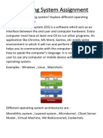 Operating System Assignment (2)