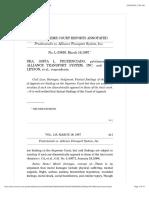 Prudenciado vs. Alliance Transport System, Inc.