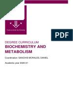 Biochemistry And Metabolism