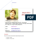 Oracle R12 IProcurement