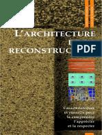 architecture de la Reconstruction72