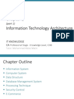 ! IT KNOWLEDGE Chapter 2-1 - IT Architecture