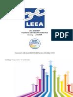LEEA-036(b) - Academy ITS Practical Training Courses Jan - June 2020 Version 1 October 2019