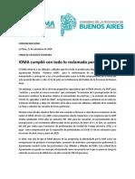 Comunicado de IOMA ante la decisión de la AMP de cotar las prestaciones