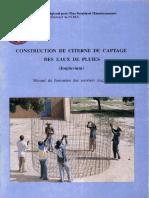 Construction de citerne de captage des eaux de pluies