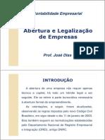 1 Abertura e Legalização de Empresas