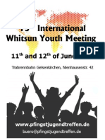 15 th InternationalWhitsun Youth Meeting 2011 Germany