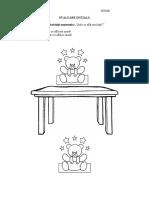 Evaluare initiala grupa mica DS