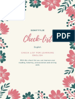 Check list for learning english