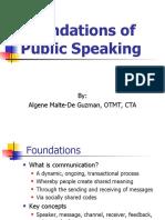 1 - Foundations of Public Speaking