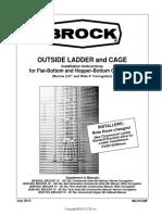 Escalera externa y guardacuerpo para silos fondo plano y serie EH