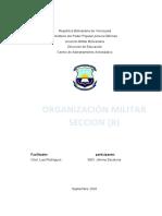 trabajo organizacion militar