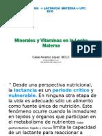 Minerales y Vitaminas en Leche Materna_2010
