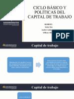 CICLO BÁSICO Y POLÍTICAS DEL CAPITAL DE TRABAJO
