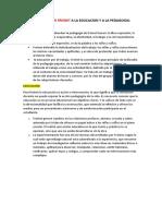 APORTE DE CELÃ_STIN FREINET A LA EDUCACION Y A LA PEDAGOGIA