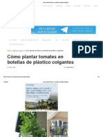 Cómo plantar tomates en botellas de plástico colgantes