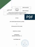 Décision de la CADHP concernant la saisine de Guillaume Soro (15 septembre 2020)