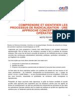 cf2r.org-Comprendre et identifier les processus de radicalisation une approche conceptuelle et opérationnelle