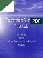 Petroleum Potential for Timo Leste (2005)
