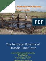 Petroleum Potential of Onshore Timor Leste (2016)