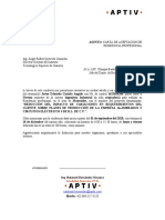 Ejemplo de Carta de Aceptacion