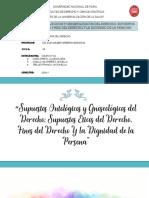 Diapositivas.Supuestos Ontológicos y Gnoseológicos del Derecho; Supuestos Éticos del Derecho, Fines del Derecho Y la Dignidad de la Persona