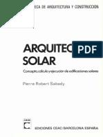 Arquitectura solar - Pierre Robert Sabady-FREELIBROS.ORG