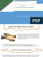 3.6  PRODUCCIÓN ESBELTA Y PROGRAMACIÓN MAESTRA