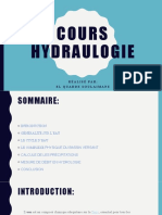 Cours hydraulogie