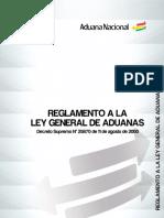 REGLAMENTO A LA LEY GENERAL DE ADUANAS