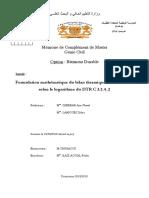 Formulation mathématique du bilan thermique DJEBBAR LAMOURI Master Batiment Durable.pdf