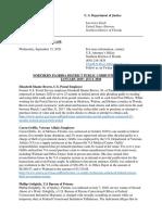 Northern Florida District Public Corruption Cases 2019 - 2020