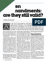 [BOCKMUEHL Klaus] The Ten commandments - are they still valid (Ministry 1985-03)