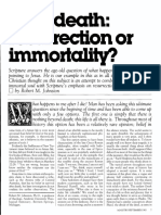 [JOHNSTON Robert M. ] After death - resurrection or immortality (Ministry, 1983-09)