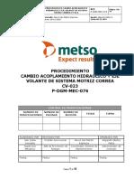 P-DGM-MEC-076 Proc. cambio de acoplamiemto hidraulico y eje volante de sistema motriz correa CV-023