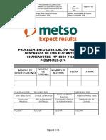 P-DGM-MEC-074 Proc  Lubricación Manual de descanso de ejes flotantes chancadores MP-1000 Y 1250