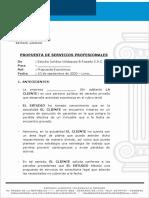 PROPUESTA DE SERVICIOS PROFESIONALES - CASO TRANSACCIONES
