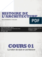 Cours 01 La notion de style en Architecture