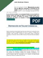 Definición de Valor Comercial