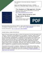 Kelman. 5 Public administration and organization studies
