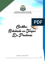 CARTILHA -  ESTUDANDO EM TEMPOS DE PANDEMIA