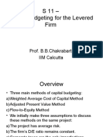 S 11 - Capital Budgeting for the Levered Firm